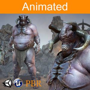 3D character orc magur model