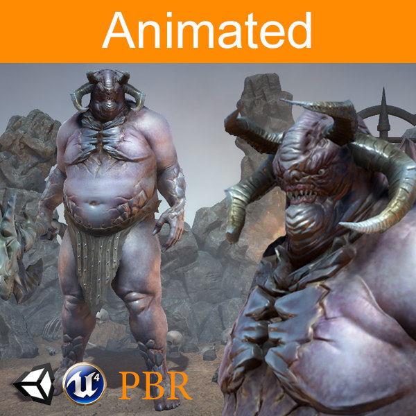 3D character orc magur model