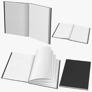 large bound sketchbook 3D