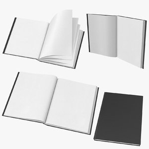 3D model medium bound sketchbook