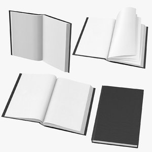 small bound sketchbooks 3D