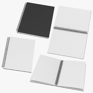 spiral sketchbooks 01 3D model