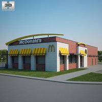 mcdonald restaurant 3D model