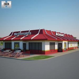 3D mcdonald restaurant