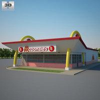 3D model mcdonald restaurant