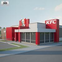 3D kfc restaurant model