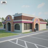 taco bell restaurant 3D model