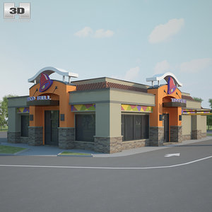 3D taco bell restaurant model