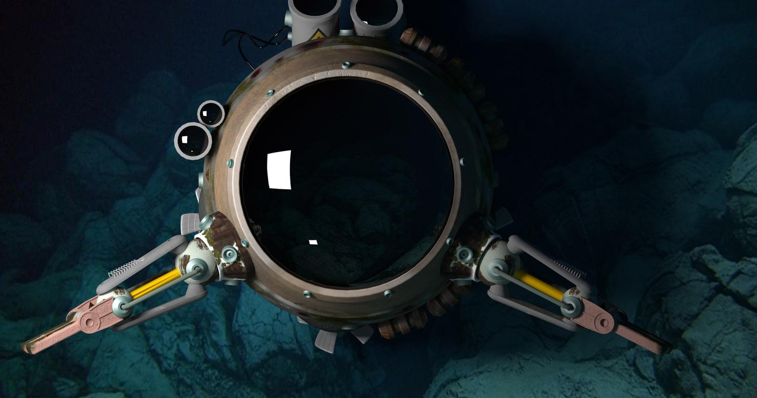 submarine nautilus 3D model