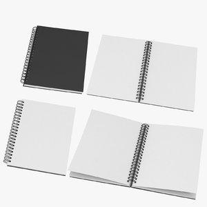 3D spiral sketchbooks 02