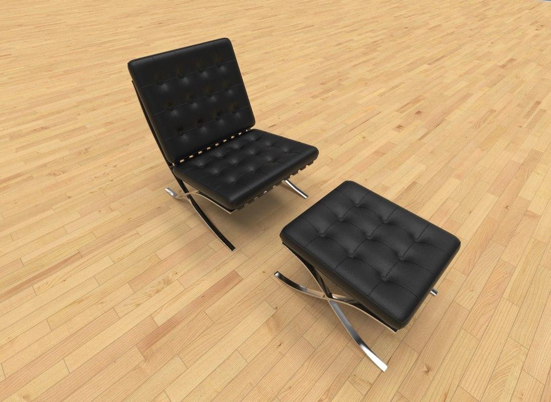 3D armchair barcelona