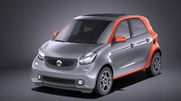 Smart Forfour 2016 VRAY