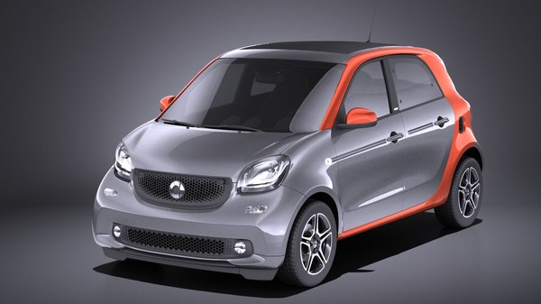 2016 smart forfour 3D model