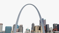 st louis cityscape city building 3D model