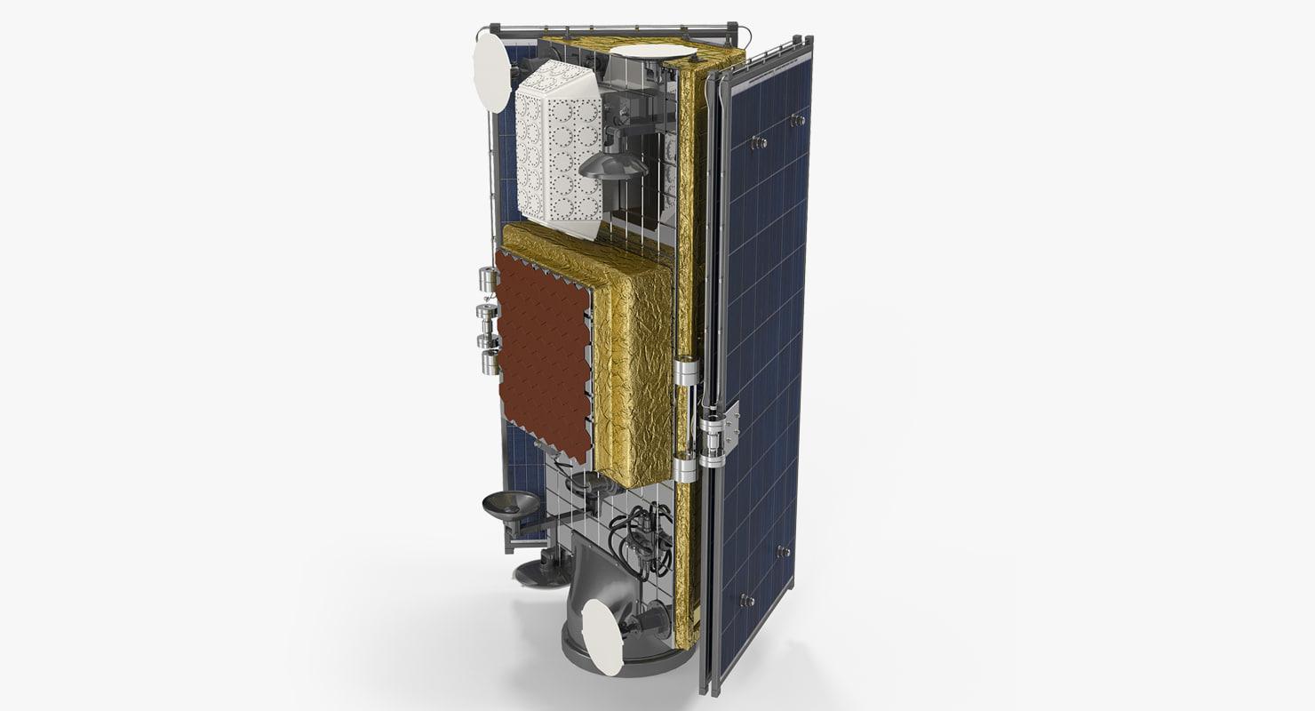 Satellite Panels Texture : Satellite collapsed solar panels d model turbosquid