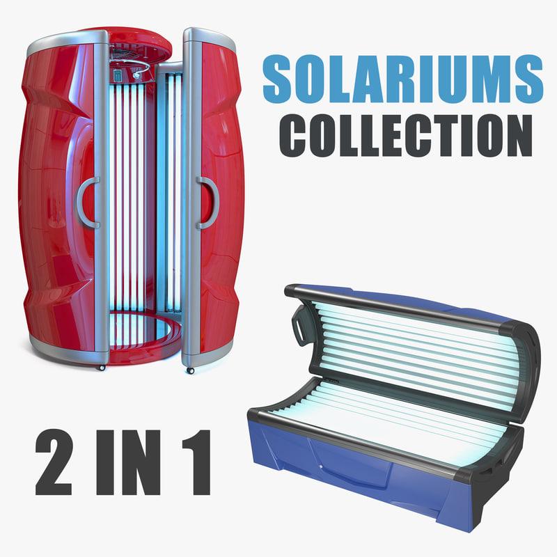 3D solariums vertical tanning model