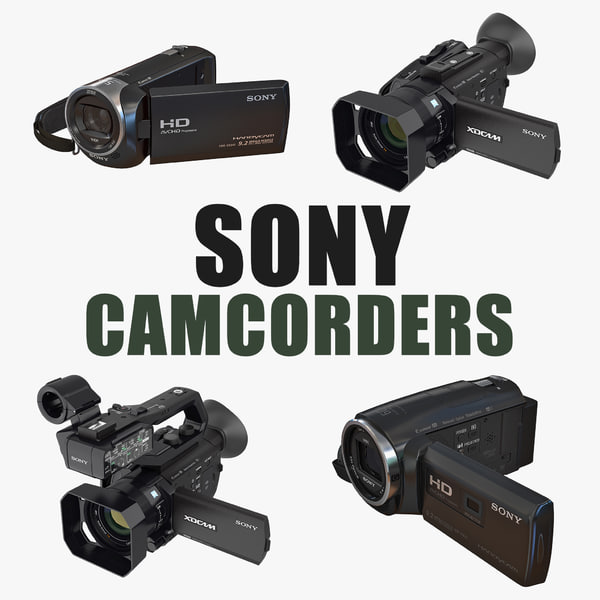 sony camcorders 3D model