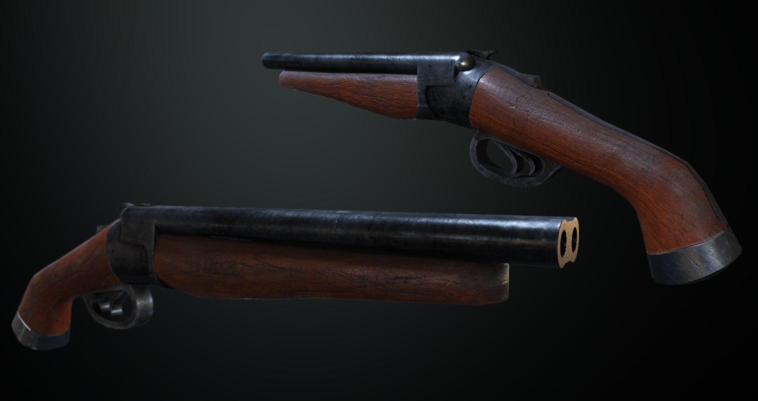 3D obrez pistol