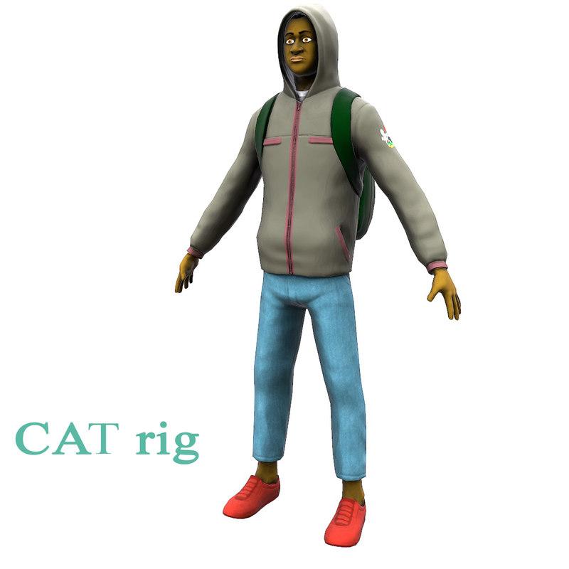 student backpak 3D
