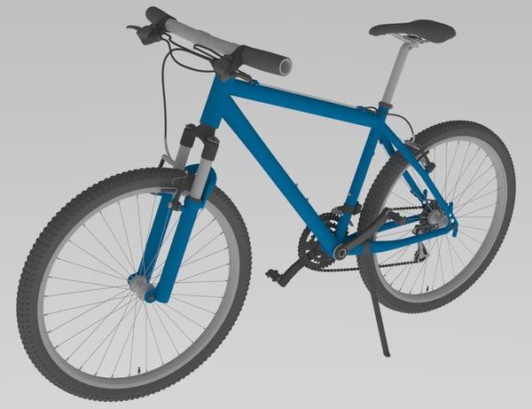 3D montain bike model