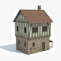 ready medieval house model