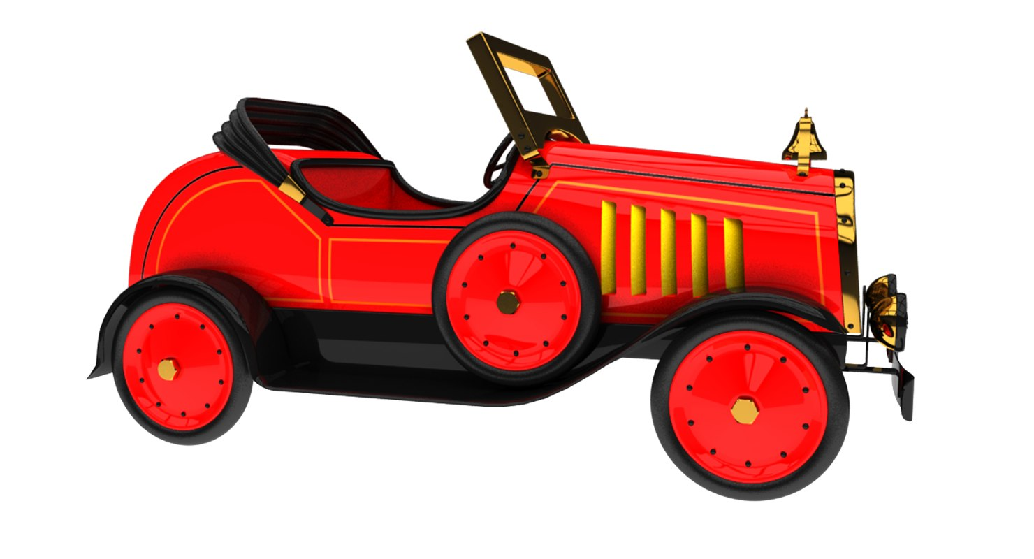 Vintage toy car model - TurboSquid 1235703