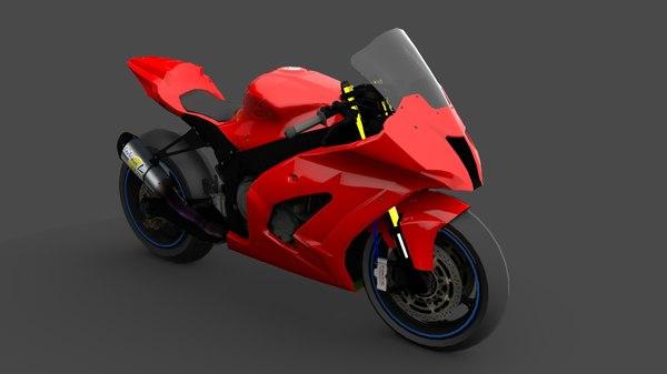 3D model motorcycle racer