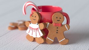 gingerbread man cookie 3D