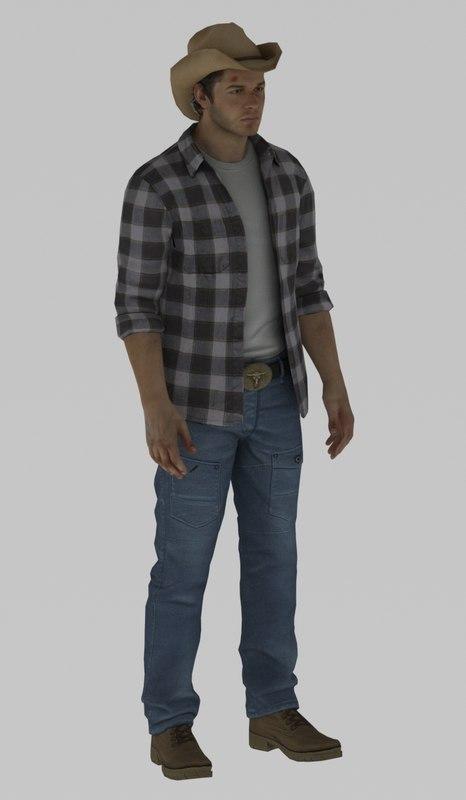 3D cowby model