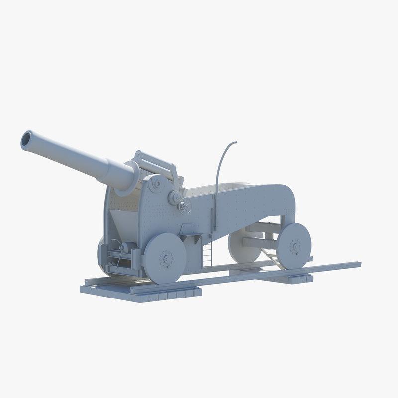 3D italian howitzer obice materials