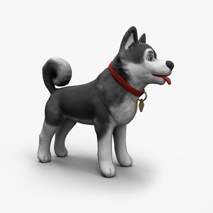 3D model cartoony dog