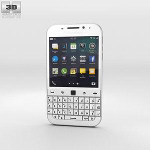 blackberry classic white 3D model