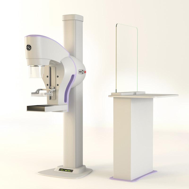 mammography senographe crystal 3D model