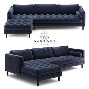 sofa banquet denver 3D model