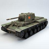 soviet heavy tank 3D model