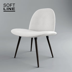 3D orlando wood chair softline