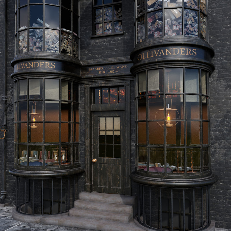 ollivanders wand shop model
