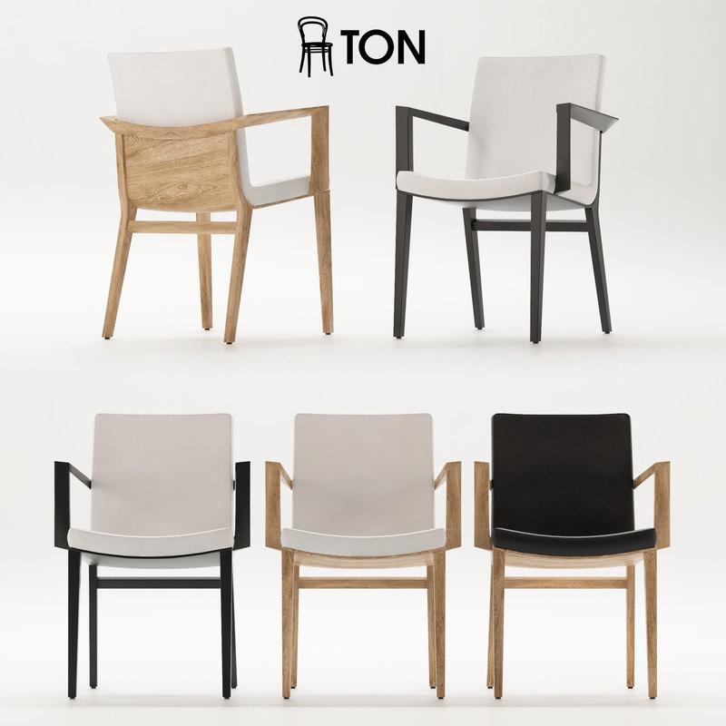 chair soft seat 3D model