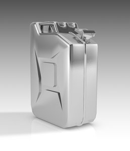 tank canister gasoline 3D model
