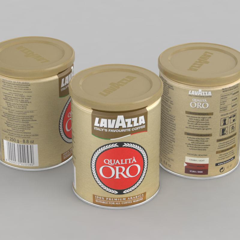 3D coffe lavazza qualita oro