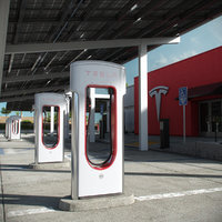 3D tesla supercharger kettleman city model