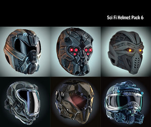 helmet hd pack 3D model