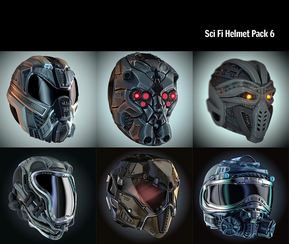 helmet hd pack 3D model