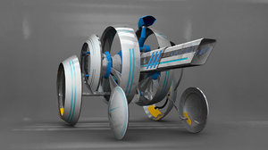 3D model sphere robot transformable rigged