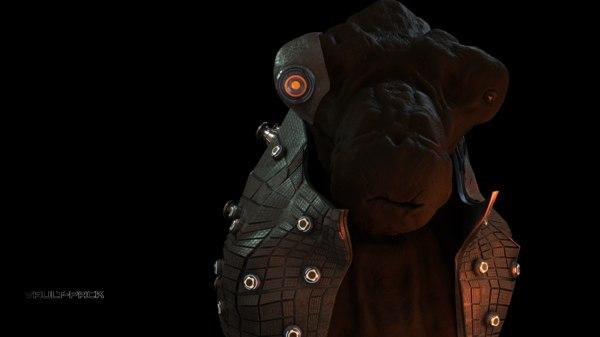 monster head 3D model