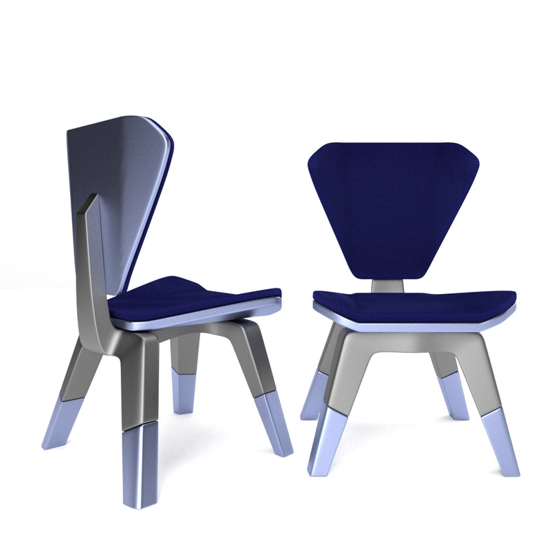 3D fabric padding designed chair seat model