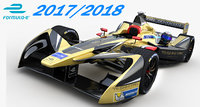 3D formula e techeetah team model