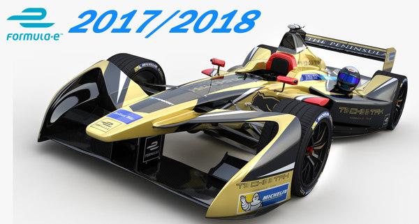 3D formula e techeetah team model