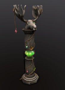 column elk 3D model