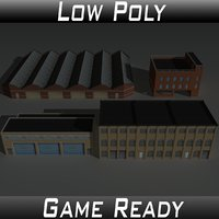 3D factory building set 3